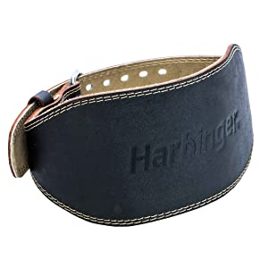 Amazon.com : Harbinger Padded Leather Contoured Weightlifting Belt with  Suede Lining and Steel Roller Buckle : Clothing