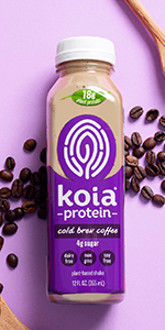 koia cold brew coffee plant based protein shake dairy free drink
