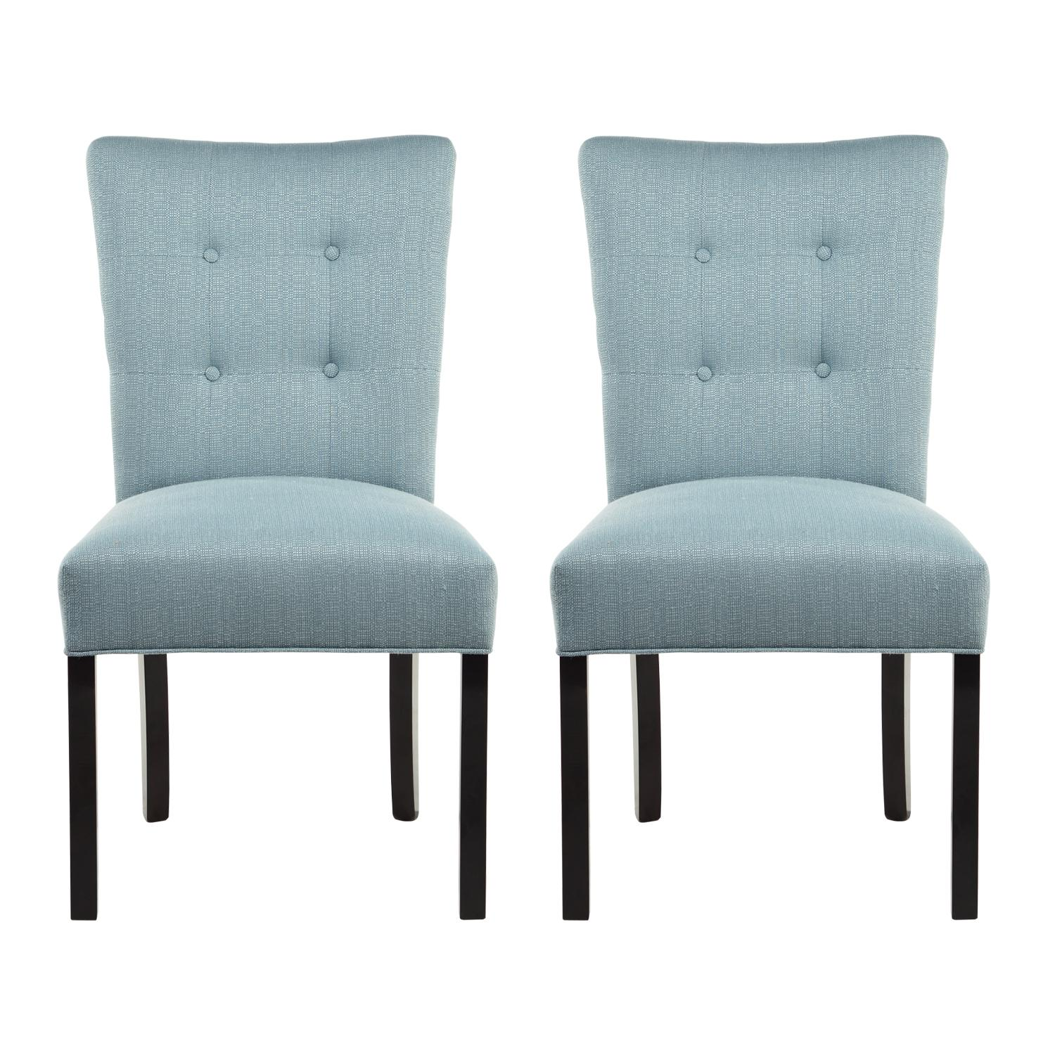 Button Tufted Fanback Dining Chairs. View Larger
