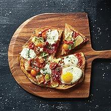pizza board; flatbread board; pizza peel; flatbread peel; pizza tabletop
