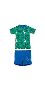 Sterntaler Girls 2-piece Swimsuit with Short Sleeve Swimming Shirt and Trouser Skirt with nappy insert UV protection