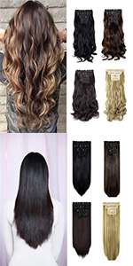 4PCS Clip in Hair Extensions