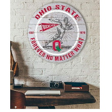 White KH Sports Fan 10x8 Ohio State Buckeyes Clip It Weathered Logo Collage Photo Frame