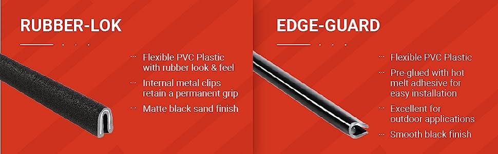 edge trims rubber lok edge guard
