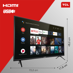 Tcl 32es561 Fernseher 80 Cm 32 Zoll Smart Tv Hd Android Tv Hdr