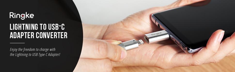 Adaptor Ringke premium Lightning la USB-C