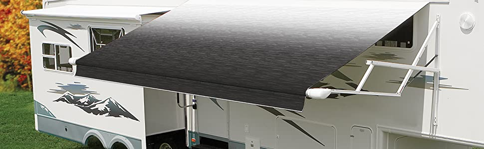 Carefree R001326WHT White RV Travel'r Electric Awning ...