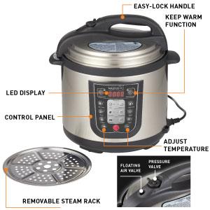 MasterPro; slow cooker; pressure cooker; multi cooker; kitchen