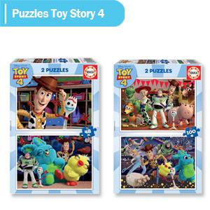 puzzles toy story; toy story 4 puzzle; toy story 4; ;puzzle pixar; pixar; 2 puzzles; puzzle niños