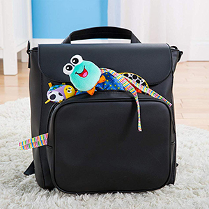 fold and  go toy attaches to Strollers, Carriers and Diaper Bags