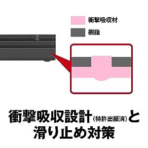 衝撃吸収設計(特許出願済)と滑り止め対策