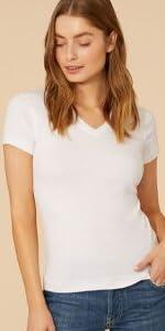 three dots, tops for women, vneck t-shirt, v-neck, tops for women