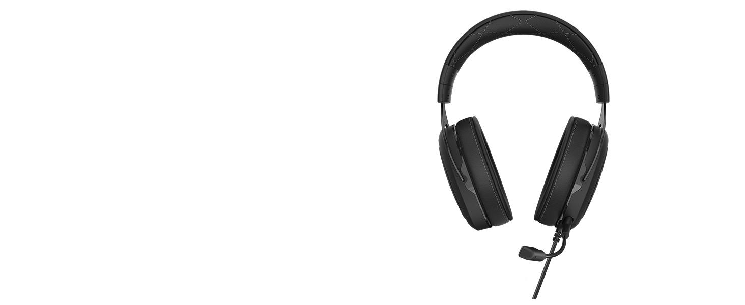 אוזניות גיימינג CORSAIR HS60 PRO-Carbon