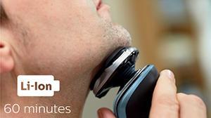 60 minutos de afeitado sin cable