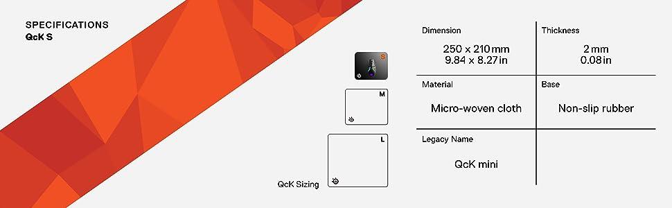 SteelSeries QcK Mini, Tapis de souris Gaming