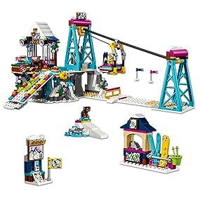 Lego Friends - Estación de esquí: Telesillas (41324): Amazon ...
