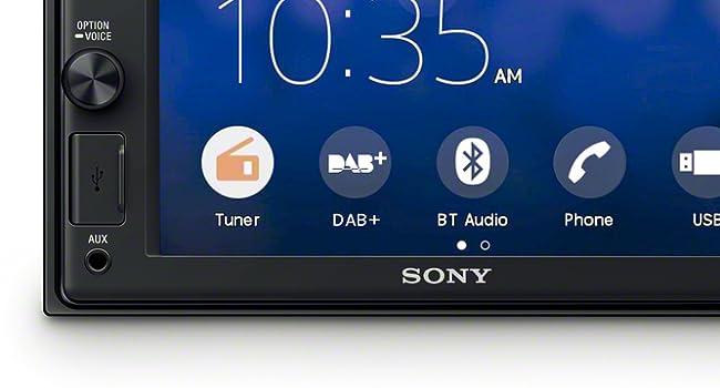 Sony Xav Ax1005kit Dab Media Receiver Touchscreen 6 2 Zoll Mit Bluetooth Und Apple Carplay Und Dab Antenne Inklusive Elektronik