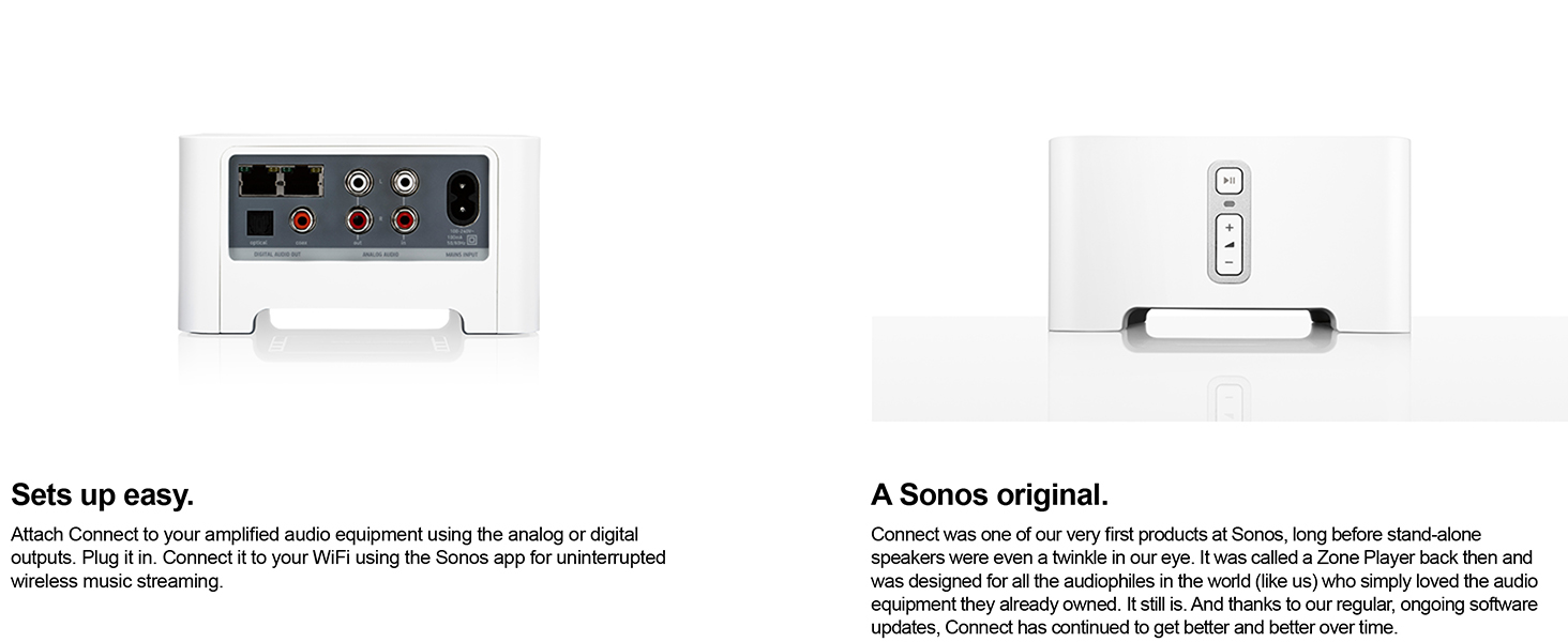 amazon com sonos connect wireless receiver component for streaming rh amazon com Sonos Speakers Sonos ZonePlayer 120