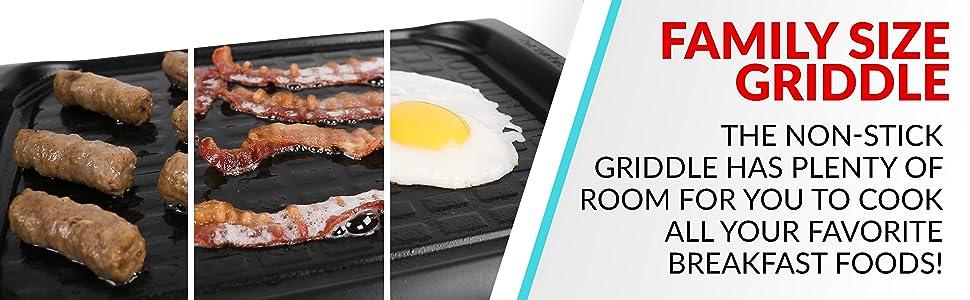 sausage, bacon, eggs, toast, ham, nonstick, breakfast foods