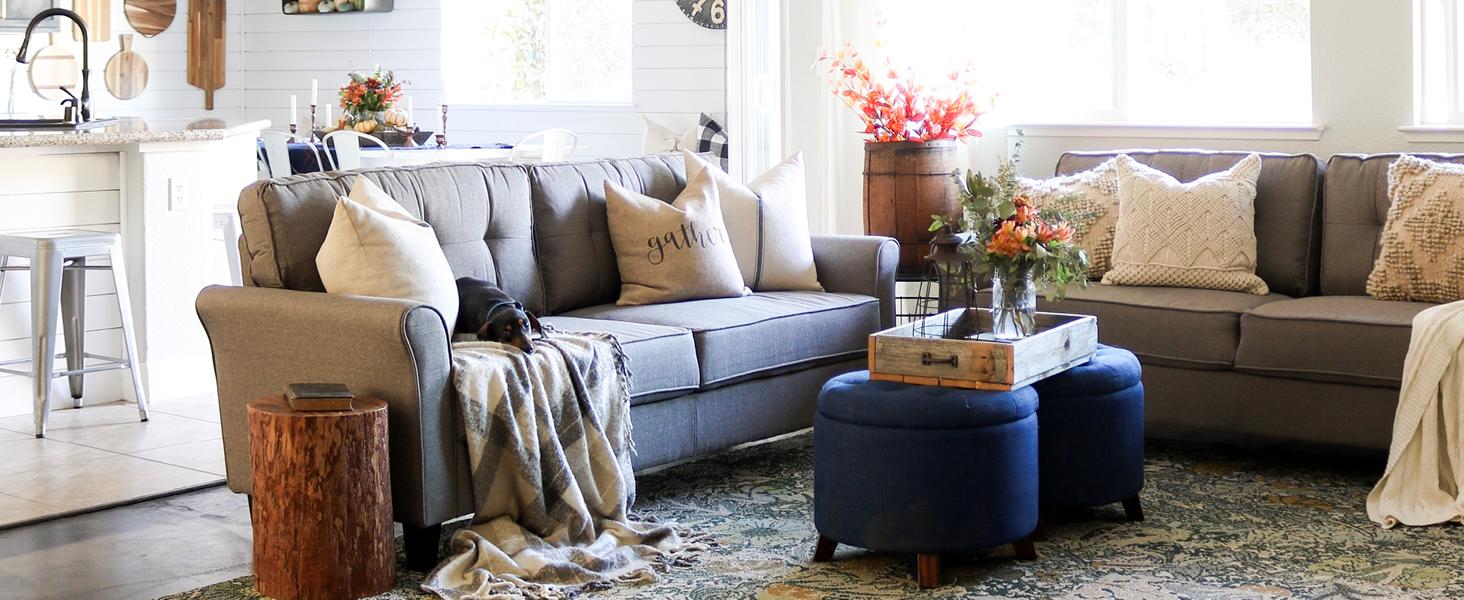 zinus sofa living room