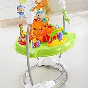 Bébé va sauter de joie grâce au Jumperoo Jungle: musique, lumières et sons !