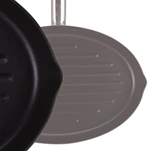 MasterPro Foodies Plancha Grill, Aluminio Forjado, Negro, 37 cm