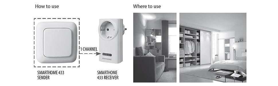 Smartwares SmartHome Funk-Doppelwandschalter 2-Kanal, SH5-TSW-B ...
