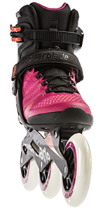 macroblade skates,, 110mm wheels, women rollerblades