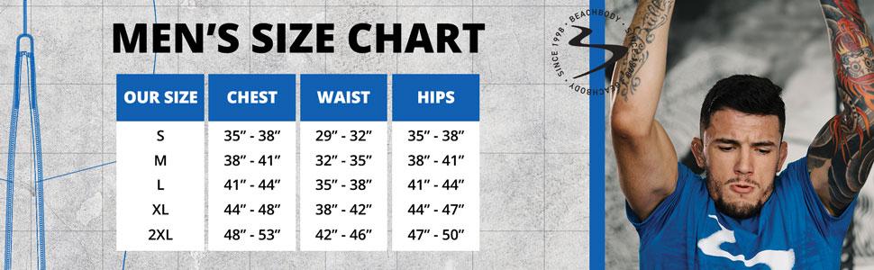 M Size Chart