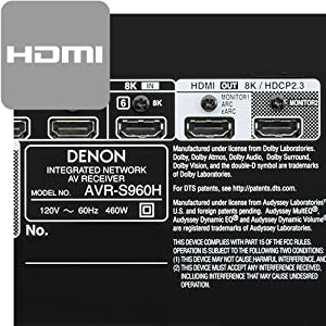 Denon AVR-S960 HDMI inputs