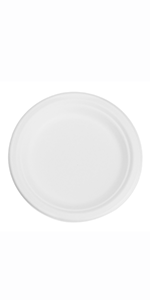 """7"""" Bagasse Round Plate"""