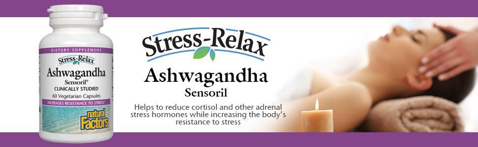 Amazon Com Natural Factors Stress Relax Ashwagandha Sensoril