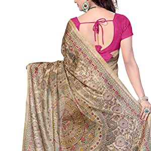 Rani Saahiba Women's Art Silk Saree