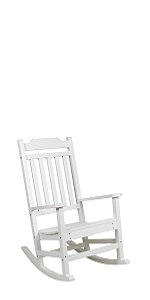 All-Weather Rocking Chair in White