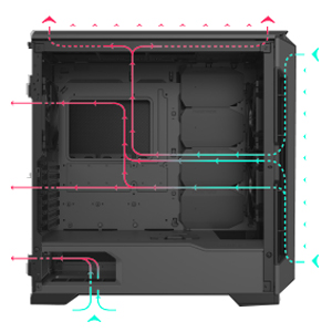 Performance High silent gaming case computer