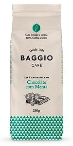 Chocolate com Menta Baggio Café aromatizado torrado e moído