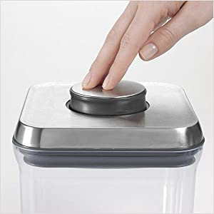 Amazon Com Oxo Steel 5 Piece Airtight Food Storage Pop Container Set Food Savers