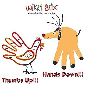 HAND TURKEY, HAND REINDEER, WIKKI STIX