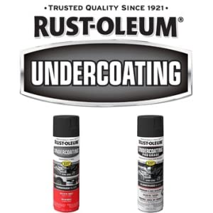 rust and weather protective underbody spray coatings