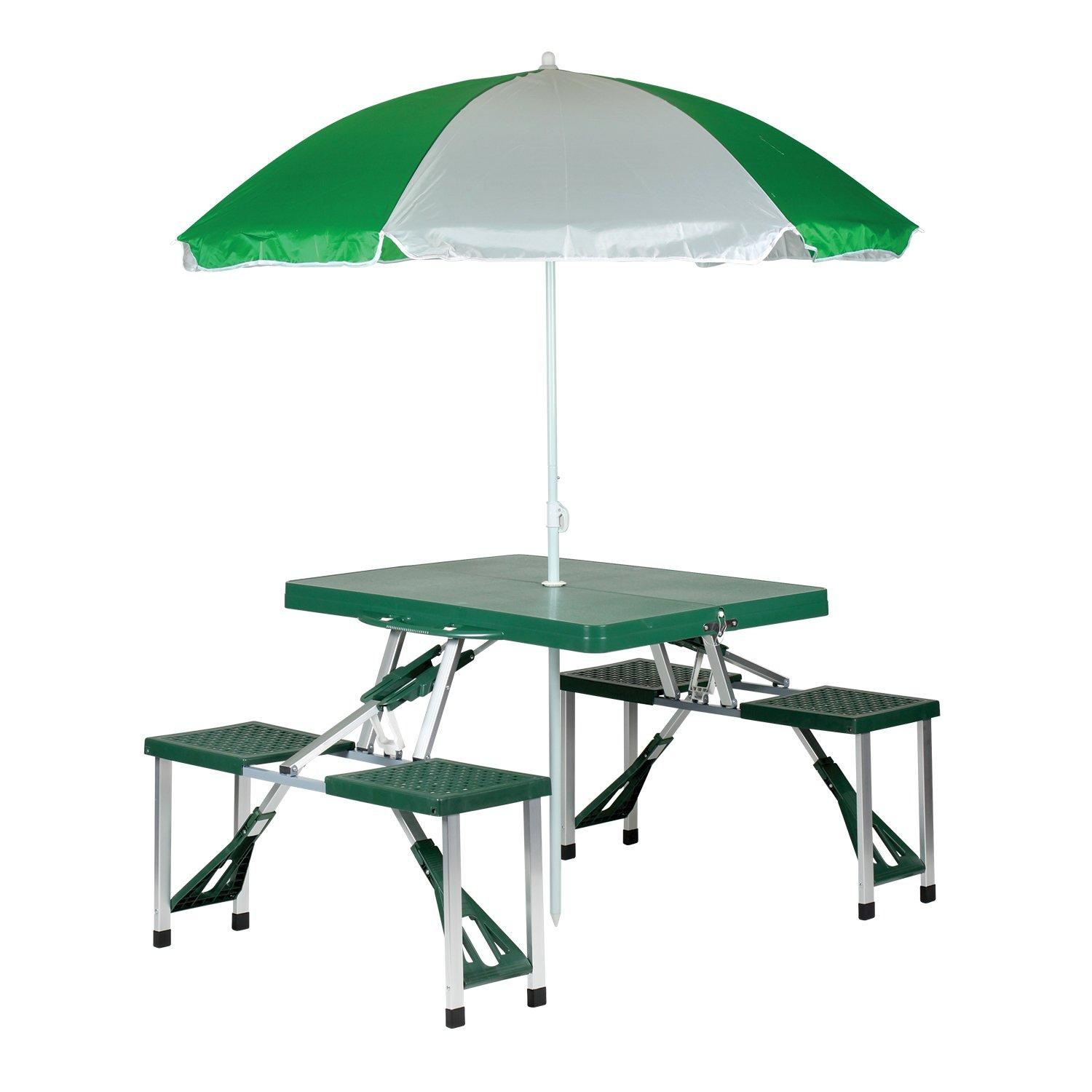 Stansport 615 picnic table and umbrella combo for Table umbrella