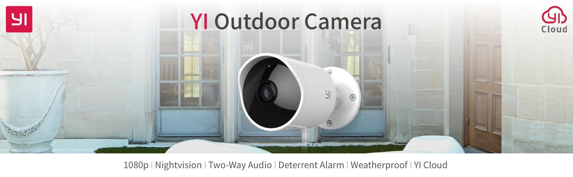 YI Outdoor Security Camera, 1080p Cloud - TiendaMIA com