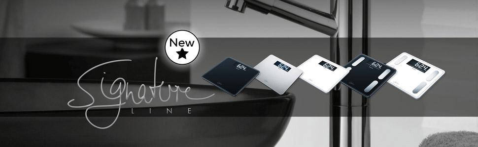 Beurer GS 400 Signature Line, Pèse personne en verre, écran XXL éclairé pour une meilleure lisibilité, capacité de charge 200 kg, Blanc