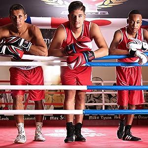 Sportstech BXG Guantes de Boxeo Profesionales.Amortiguación y fijación de muñeca desarrollados por Sporstech. Ideal para Kickboxing,MMA, Boxeo y Saco de Boxeo.Incl.Vendas de Boxeo (Amarillo, 10 oz): Amazon.es: Deportes y aire libre