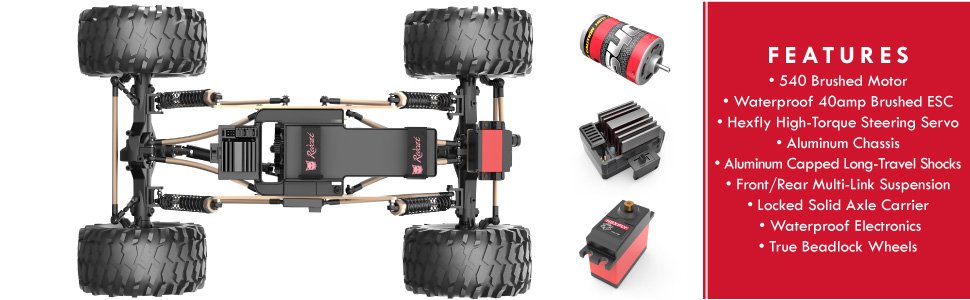 Redcat Racing Everest-10 Electric Rock Crawler with Waterproof Electronics,  2 4Ghz Radio Control (1/10 Scale), Blue