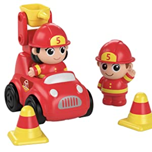 Fire Station playset, firehouse, firefighter, fire engine, lights and sounds