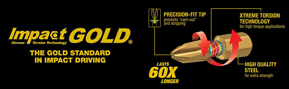 impact fold standard in driving precision fit-tip xtreme torsion technology high quality steel