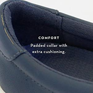 Comfort. Padded Collar with extra cushioning.