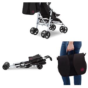 stroller features parent umbrella fold bag organizer storage