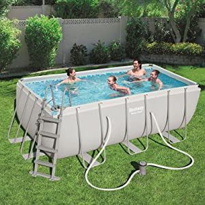 Bestway Power Steel Rectangular Pool Set 412 x 201 x 122 cm Marco ...