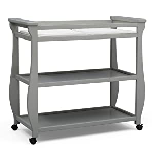 Delta Children Lancaster Changing Table available in Grey